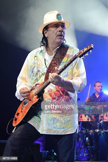 Carlos Santana performs at Hard Rock Live in the Seminole Hard Rock Hotel Casino on May 2 2014 in Hollywood Florida