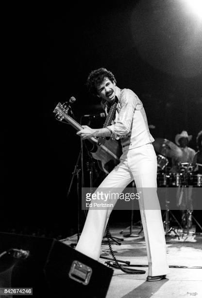 Carlos Santana performs at the Cow Palace on December 31 1976 in San Francisco California