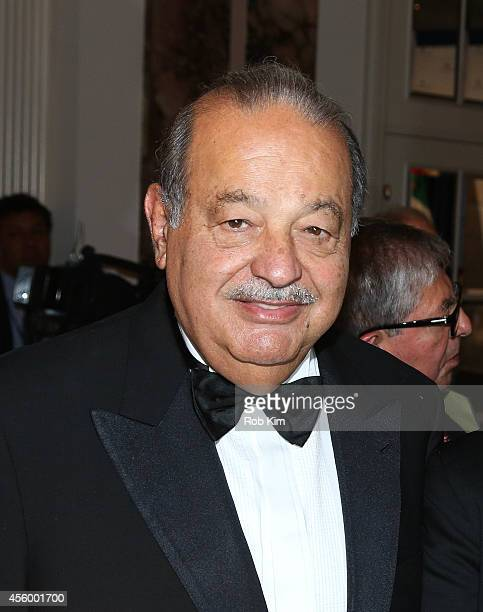 Carlos Slim attends 2014 Appeal of Conscience Foundation Awards at The Waldorf=Astoria on September 23 2014 in New York City