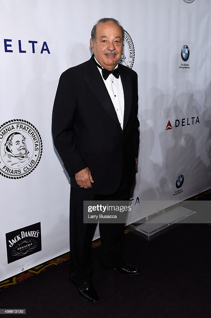 <a gi-track='captionPersonalityLinkClicked' href=/galleries/search?phrase=Carlos+Slim&family=editorial&specificpeople=584959 ng-click='$event.stopPropagation()'>Carlos Slim</a> attends the Friars Foundation Gala honoring Robert De Niro and <a gi-track='captionPersonalityLinkClicked' href=/galleries/search?phrase=Carlos+Slim&family=editorial&specificpeople=584959 ng-click='$event.stopPropagation()'>Carlos Slim</a> at The Waldorf=Astoria on October 7, 2014 in New York City.