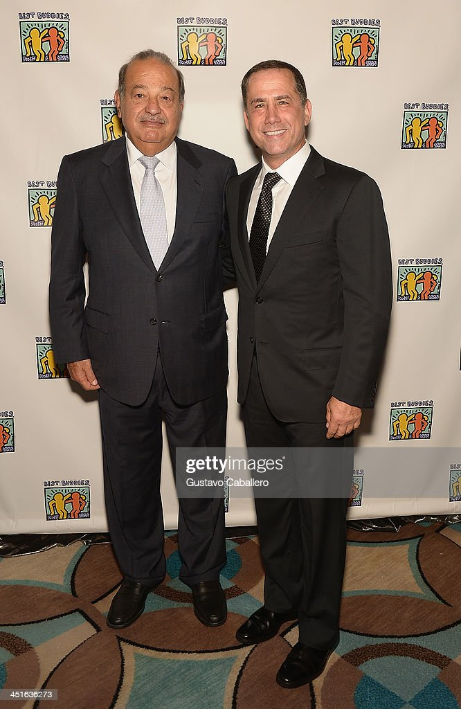<a gi-track='captionPersonalityLinkClicked' href=/galleries/search?phrase=Carlos+Slim&family=editorial&specificpeople=584959 ng-click='$event.stopPropagation()'>Carlos Slim</a> Helu and Philip Levine arrive at The Seventeenth Annual Best Buddies Miami Gala at Fontainebleau Miami Beach on November 22, 2013 in Miami Beach, Florida