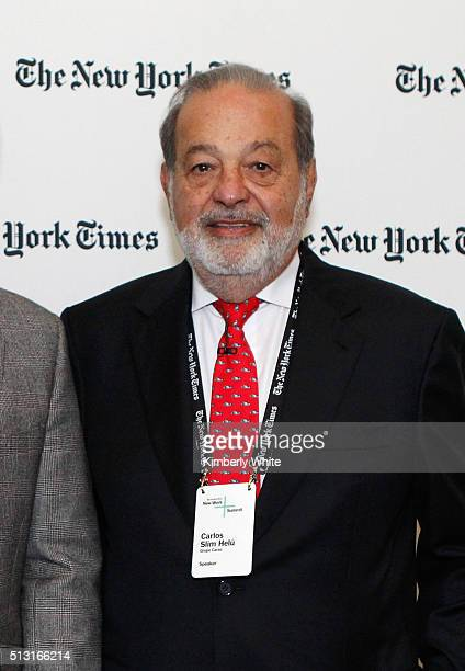 Carlos Slim Helu Chairman Grupo Carso attends The New York Times New Work Summit on February 29 2016 in Half Moon Bay California