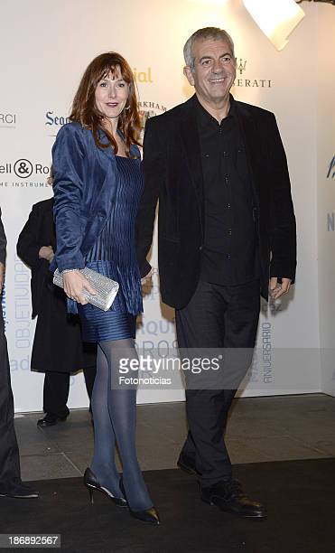 Carlos Sobera and Patricia Santamaria attend 'La Razon' newspaper 15th anniversary party on November 4 2013 in Madrid Spain
