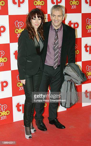Carlos Sobera and Patricia Santamaria attend 'TP de Oro' Television Awards 2012 at Canal Theatre on February 13 2012 in Madrid Spain