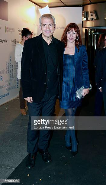 Carlos Sobera and Patricia Santamaria attend XV anniversary of 'La Razon' newspaper on November 4 2013 in Madrid Spain