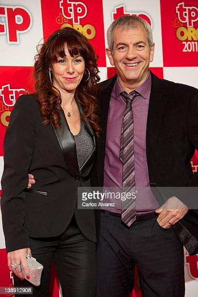 Carlos Sobera and wife Patricia Santamaria attend 'TP de Oro' Television Awards 2012 at the Canal Theater on February 13 2012 in Madrid Spain