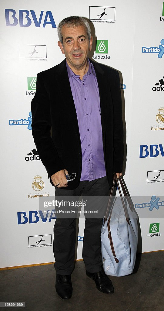 Carlos Sobera attends 'Partido X La Ilusion' organised by Iker Casillas Foundation at Palacio de los Deportes on December 23, 2012 in Madrid, Spain.