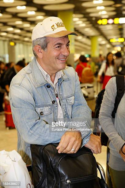 Carlos Sobera is seen arriving to Spain from Tanzania where the Tv presenter was attacked by an elephant on October 1 2012 in Madrid Spain