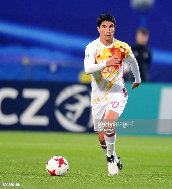 Carlos Soler during the UEFA European Under21 match between Serbia and Spain at Arena Bydgoszcz on June 23 2017 in Bydgoszcz Poland