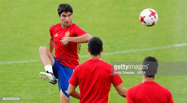 Carlos Soler of Spain juggle the ball during the MD1 training session of the U21 national team of Spain at Krakow stadium on June 29 2017 in Krakow...