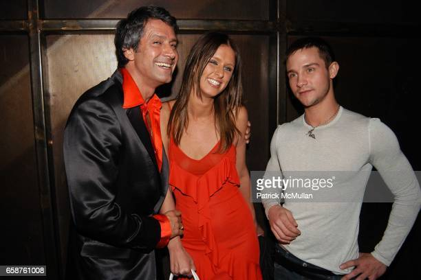 Carlos Sousa Nicky Hilton Joey Sanchez attend RED Valentino Fall 2004 Collection Partyheld at LOT 61 on February 4 2004 in New York City