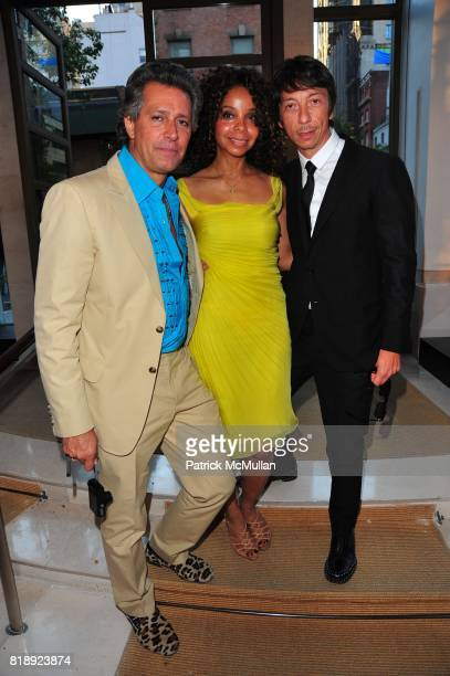 Carlos Souza June Haynes and Pier Paolo Piccioli attend VALENTINO hosts Carlos Mota book launch 'Flowers Chic and Cheap' at Valentino on May 4 2010...