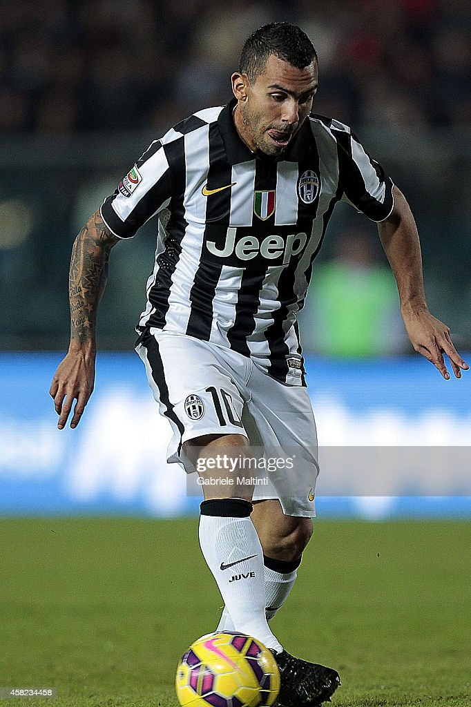 Carlos Tevez of Juventus FC in acion during the Serie A match between Empoli FC and Juventus FC at Stadio Carlo Castellani on November 1, 2014 in Empoli, Italy.