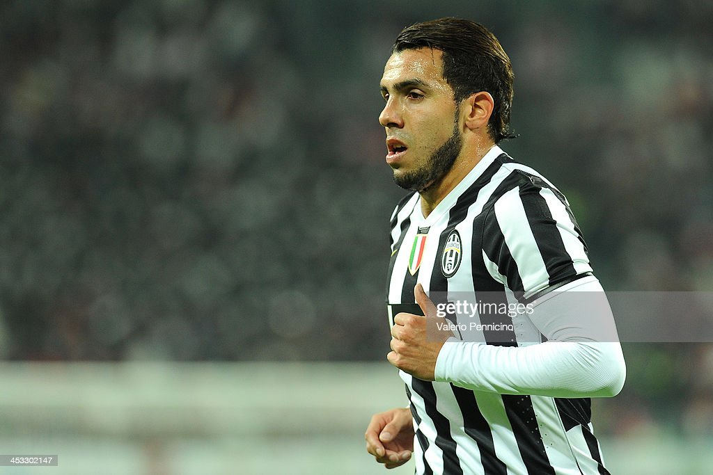 Carlos Tevez of Juventus looks on during the Serie A match between Juventus and Udinese Calcio at Juventus Arena on December 1, 2013 in Turin, Italy.