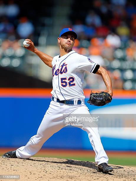 Carlos Torres of the New York Mets in action against the Washington Nationals at Citi Field on June 29 2013 in the Flushing neighborhood of the...