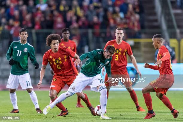 Carlos Vela of Mexico Axel Witsel of Belgium Dedryck Boyata of Belgium Hector Herrera of Mexico Thomas Vermaelen of Belgium Youri Tielemans of...