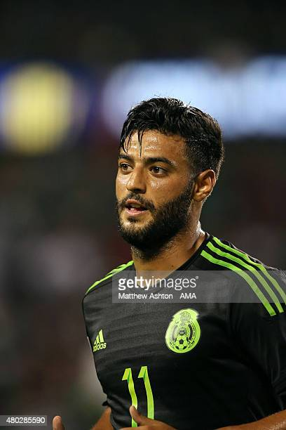 Carlos Vela of Mexico during the CONCACAF Gold Cup match between Mexico and Cuba at Soldier Field on July 9 2015 in Chicago Illinois