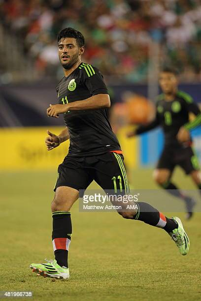 Carlos Vela of Mexico during the Gold Cup Quarter Final between Mexico and Costa Rica at MetLife Stadium on July 19 2015 in East Rutherford New Jersey