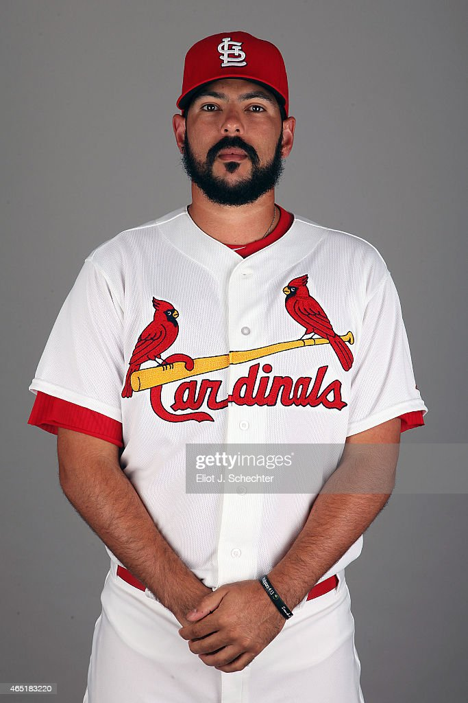 Carlos Villanueva #33 of the St. Louis Cardinals poses during Photo Day on Monday, March 2, 2015 at Roger Dean Stadium in Jupiter, Florida.