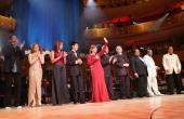 Carlos Vives Bernadette Peters Albita Gloria Estefan Emilio EstefanJose CarrerasCachao Quincy Jones and Andy Garcia