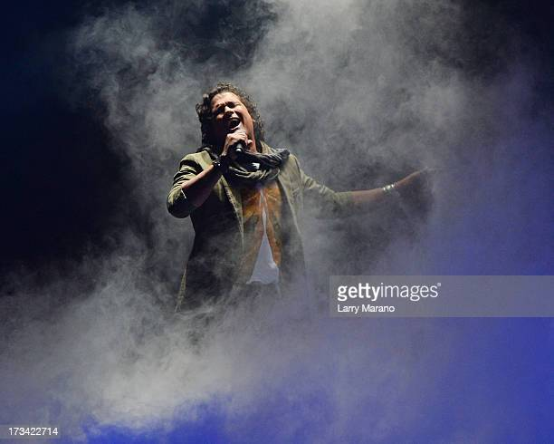 Carlos Vives performs at American Airlines Arena on July 13 2013 in Miami Florida