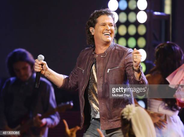 Carlos Vives performs onstage during the 14th Annual Latin GRAMMY Awards held at Mandalay Bay Resort and Casino on November 21 2013 in Las Vegas...