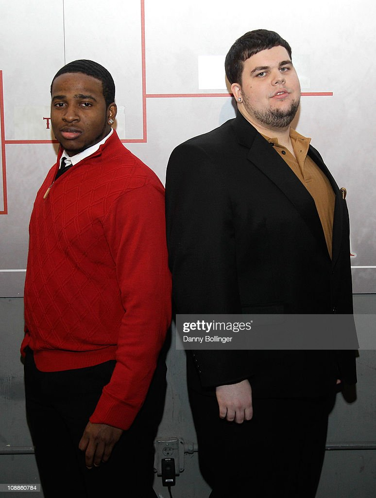 Carlos Yancy (L) and Patrick Shaw attend Virgin Gaming at the Maxim Party Powered by Xoom at Centennial Hall at Fair Park on February 5, 2011 in Dallas, Texas.