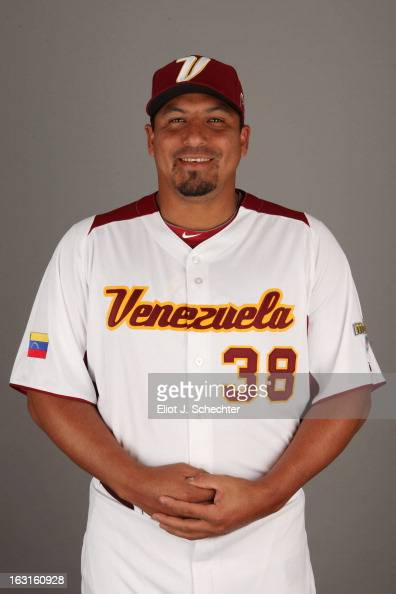 Carlos Zambrano of Team Venezuela poses for a headshot for the 2013 World Baseball Classic at Roger Dean Stadium on Monday March 4 2013 in Jupiter...