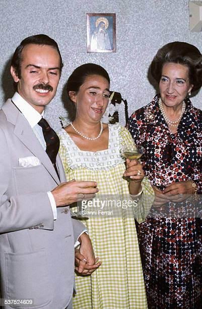 Carlos Zurita Margarita of Borbon and her mother the Countess of Barcelona celebrate the birth of Alfonso first son of Carlos and Margarita 9th...
