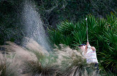 Carlota Ciganda of Spain hits a shot on the 17th hole during the second round of the CME Group Tour Championship at Tiburon Golf Club on November 21...