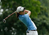 Carlota Ciganda of Spain in action during the second round of the HSBC Women's Champions at the Sentosa Golf Club on March 6 2015 in Singapore...