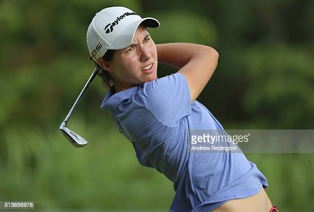 Carlota Ciganda of Spain in action during the second round of the HSBC Women's Champions at Sentosa Golf Club on March 4 2016 in Singapore Singapore