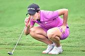 Carlota Ciganda of Spain looks on during day three of 2015 Fubon LPGA Taiwan Championship on October 24 2015 in Miramar Resort Country Club Taipei...