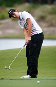 Carlota Ciganda of Spain plays a shot on the 16th hole during the second round of the CME Group Tour Championship at Tiburon Golf Club on November 21...