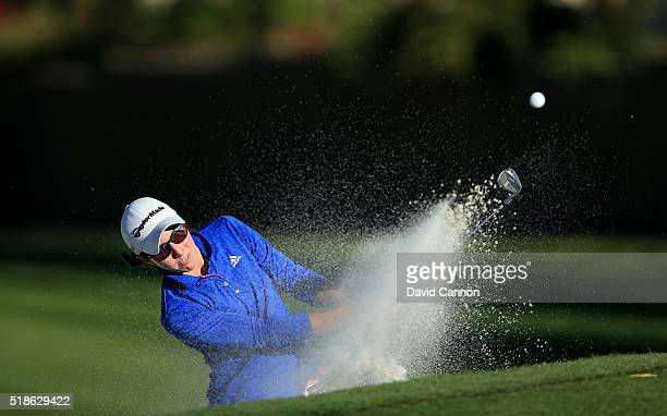 Carlota Ciganda of Spain plays her third shot on the par 4 15th hole during the second round of the 2016 ANA Inspiration at the Mission Hills Country...