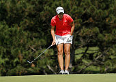 Carlota Ciganda of Spain reads a chip on the 16th green during the final round of the Meijer LPGA Classic on June 19 2016 at Blythefield Country Club...