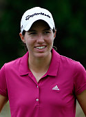 Carlota Ciganda of Spain smiles on the second hole during the third round of the CME Group Tour Championship at Tiburon Golf Club on November 22 2014...