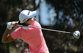 Carlota Ciganda of Spain tees off the 17th hole during Round Two of the LPGA KIA Classic at the Aviara Golf Club on March 27 2015 in Carlsbad...