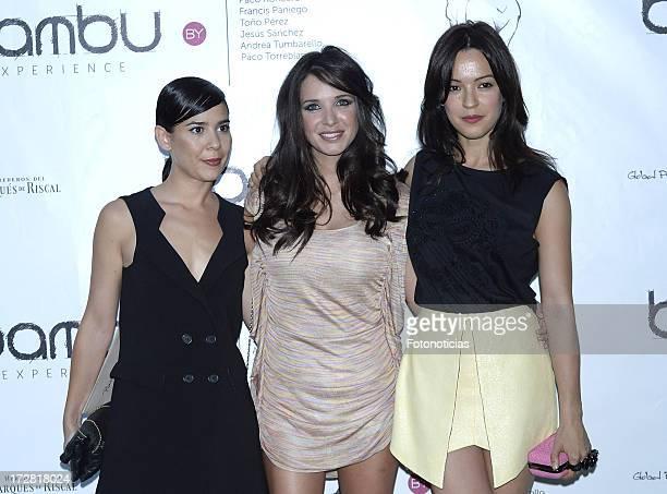 Carlota Olcina Paula Prendes and Veronica Sanchez attend Bambu Producciones anniversary party at Shoko on July 4 2013 in Madrid Spain