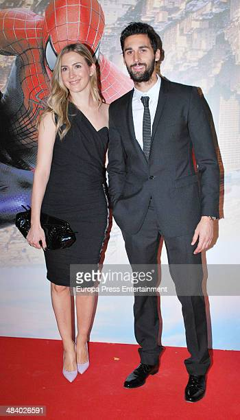 Carlota Ruiz Alvaro Arbeloa attend 'The Amazing SpiderMan 2 Rise Of Electro' special screening reception at US ambassador's residence on April 10...