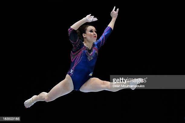 Carlotta Ferlito of Italy competes in the Women's balance beam final on Day Seven of the Artistic Gymnastics World Championships Belgium 2013 held at...