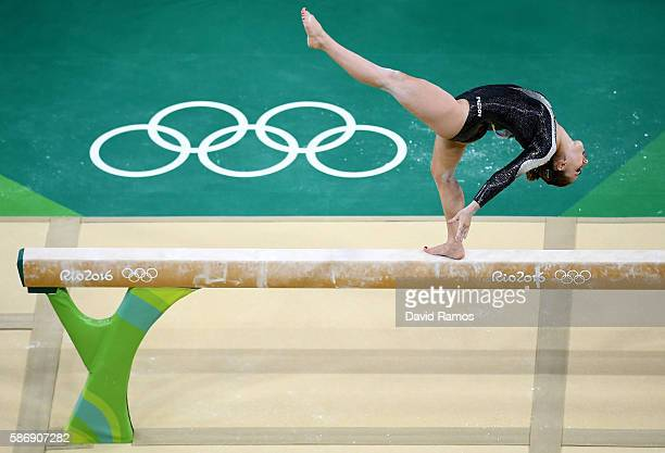 Carlotta Ferlito of Italy competes on the balance beam during Women's qualification for Artistic Gymnastics on Day 2 of the Rio 2016 Olympic Games at...
