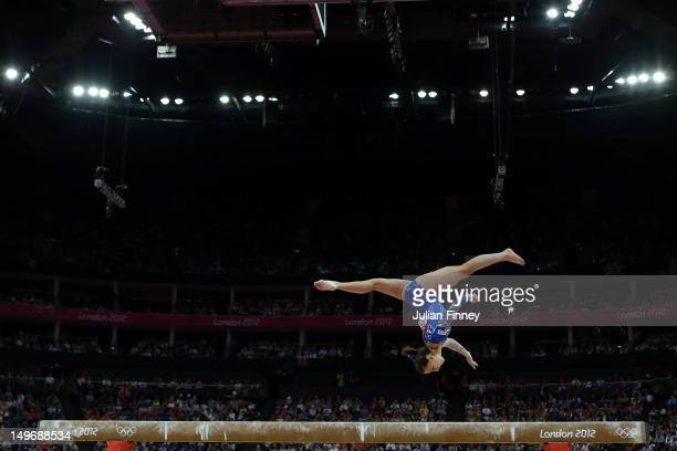 Carlotta Ferlito of Italy competes on the balance beam in the Artistic Gymnastics Women's Individual AllAround final on Day 6 of the London 2012...