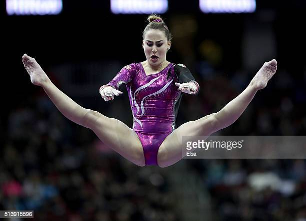 Carlotta Ferlito of Italy competes on the bars during the 2016 ATT American Cup on March 5 2016 at Prudential Center in Newark New Jersey
