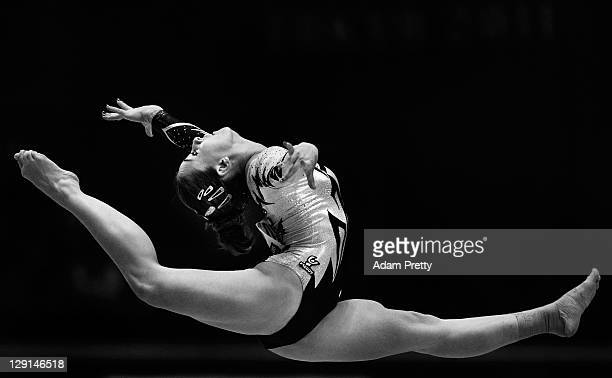 Carlotta Ferlito of Italy competes on the Floor aparatus of the Women's All Around Final during day seven of the Artistic Gymnastics World...