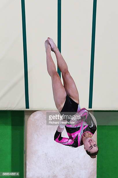 Carlotta Ferlito of Italy competes on the vault during the Women's Individual All Around Final on Day 6 of the 2016 Rio Olympics at Rio Olympic Arena...