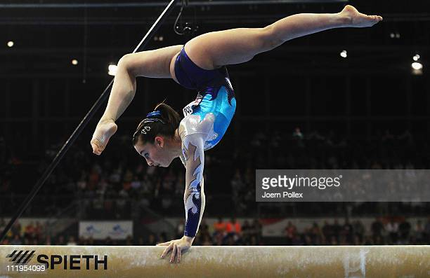 Carlotta Ferlito of Italy performs at the beam during the European Championships Artistic Gymnastics Women's Apparatus Finals at MaxSchmeling Hall on...