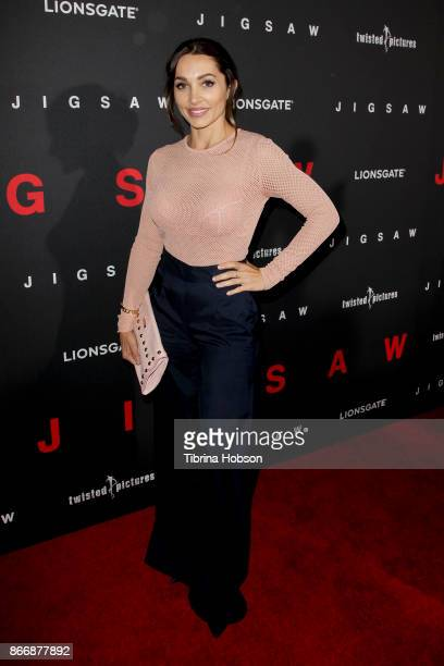 Carlotta Montanari attends the premiere of Lionsgate's 'Jigsaw' at ArcLight Hollywood on October 25 2017 in Hollywood California