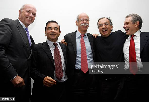 CarlPeter Forster president of General Motors Europe Carlos Ghosn chief executive officer of Renault and Nissan Dieter Zetsche DaimlerChrysler chief...