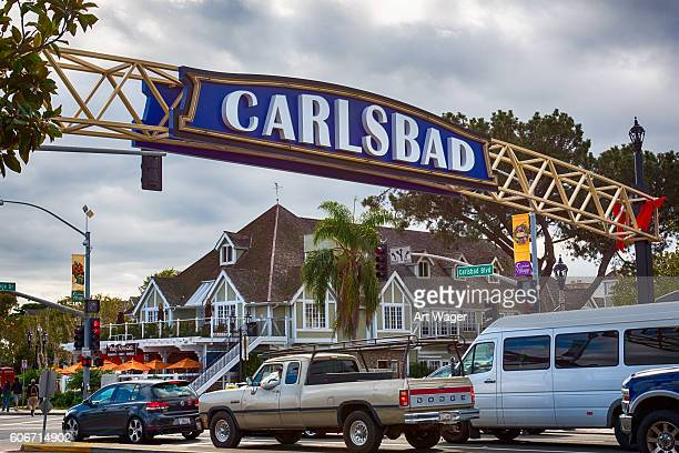 Carlsbad California Sign Over Highway 101
